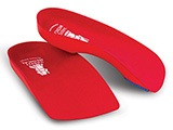 Vasyli Red Custom Orthotics - High Density 3/4 length